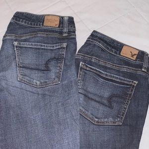 TWO AMERICAN EAGLE JEANS